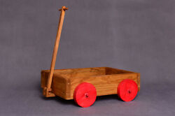 Wagon Photography Props, Wood Cart Toy Baby Toddler Photographer, Push Pull Toy