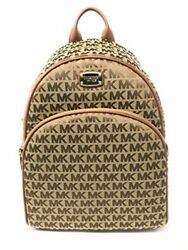 Michael Kors Signature Abbey Large Backpack for Women Beige