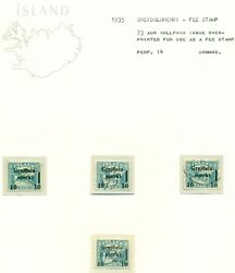 Iceland Greidslumerki Fee Stamp Specialized Collection On Pages Facit 270.00