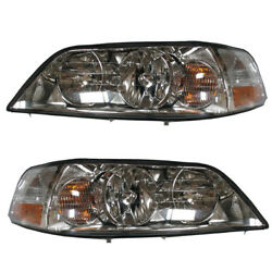 03-04 Towncar Hid Headlight Headlamp Head Light Lamp Left And Right Side Set Pair