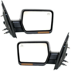 07-08 F150 Power Folding Heat Signal Puddle Lamp Mirror Left Right Side PAIR SET
