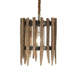Zentique Recycled Hanging New Wood Light Wssl