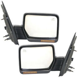 07-08 F150 Power Folding Heat Signal Puddle Lamp Mirror Left Right Side SET PAIR