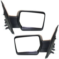09-10 F150 Truck Power Non-Heat wo Puddle Lamp Mirror Left Right Side SET PAIR