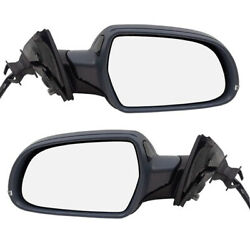10 11 A4S4 Power Non-Heated Manual-Folding Door Mirror Left Right Side SET PAIR