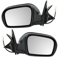 08-11 Impreza Rear View Mirror Door Power Non-heat Manual Folding Black Pair Set