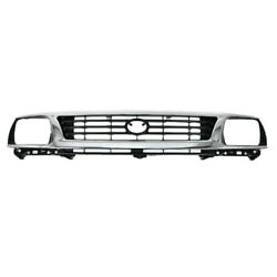 For 95-96 Tacoma Pickup Truck 2wd Front Grille Assembly Chrome With Black Insert