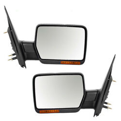 07-08 F150 Power Heated wSignal wo Puddle Lamp Mirror Left Right Side PAIR SET