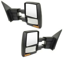 07-14 F150 Telescoping Mirror Power Heat Puddle Signal Lamp Left Right Set Pair