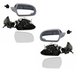 10 11 A4S4 Power Non-Heated Manual-Folding Door Mirror Left Right Side PAIR SET