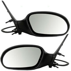 00-07 Taurus And Sable Rear View Door Mirror Power Heated Manual Folding Pair Set