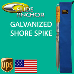 Slide Anchor Shore Spike Stake -large - Boats Up To 38 Feet American Product