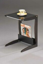 Kings Brand Walnut / Black Accent End Table With Magazine Rack New