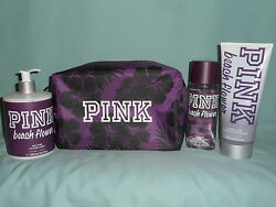 Victoria's Secret PINK Beach Flower Mist 2 in 1 Wash Body Lotion