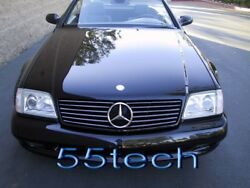 Mercedes Benz R129 SL320 SL500 Grille Grille 90~02 Smoke AMG Front Grille 6 fins
