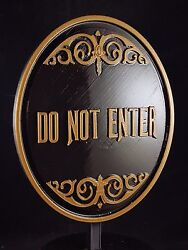 9 Haunted Mansion Ride Do Not Enter Plaque / Sign - Dual Color