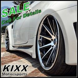 20 Rohana Rc10 20x9 20x10 Black / Silver Concave Wheels For Lexus Is250 Is350