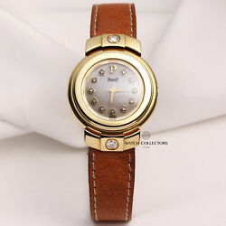 Piaget Mother of Pearl Factory Diamond Dial 18K Yellow Gold