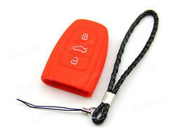 Red Silicone Case Cover Holder For Audi Remote Smart Key 3 4 Buttons AUD3RE