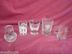 Canadian Club Top Hat Shot Glass Seagram's 100 Pipers Jameson Barclay's Becks