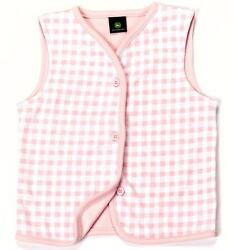 John Deere Childs Girls Pink Vest - Available In 10 Months-3 Years