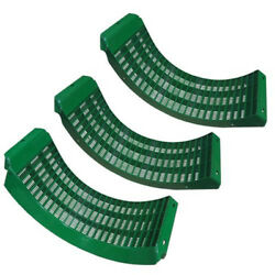 Bh84285 Combine Concave Narrow Spaced Set Of 3 Heat Treated Fits John Deere