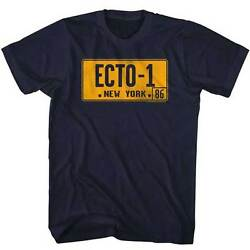 The Real Ghost Busters Animated Tv Series Ecto-1 License Plate Adult T Shirt