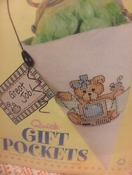 4 Lteddy Bear Quick Gift Pockets Cross Stitch Kits Great Job Gifts Gift Giving