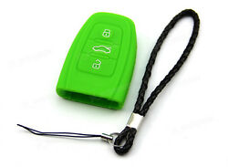 Green Silicone Case Cover For Audi Remote Smart Key 3 4 Buttons 3BT AUD3GR