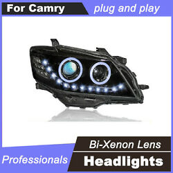 LED DRL Light Bi-Xenon HID Projector Lens Headlights For Toyota Camry 09-2011