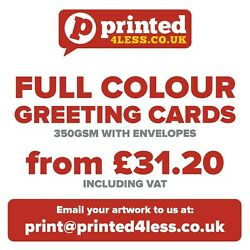 Printed Greetings Cards / Christmas / Business 350gsm A5 A4 Dl 148mm Envelopes