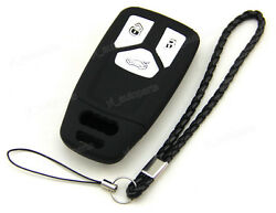 Black Silicone Case Cover For Audi A4 Q5 Q7 TT TTS Remote Smart Key 3 Buttons