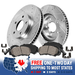 Front Drill And Slot Brake Rotors And Ceramic Brake Pads For Buick Chevy Olds Gto