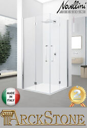 Arckstone Shower Folding Chrome Clear Novellini Young 2.0 2gs Right 79-81 Cm