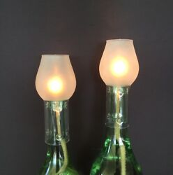 Wine Bottle Oil Lamp Kit - Frosted - Twin Pack.
