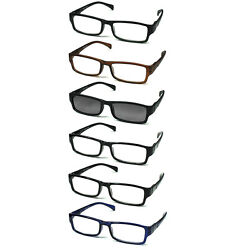 6 pack Spring Hinges Reading Glasses Unisex 51 Sunglasses Reader $12.95
