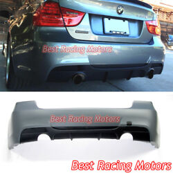 Performance Style Rear Bumper Dual Exhaust Fit 06-11 Bmw E90 4dr 3-series 335i