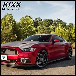 20 Rohana Rfx5 20x9/10 Black Forged Concave Wheels Fits Ford Mustang Gt Gt500