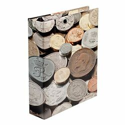 Gift For Coin Collector Album 4 Rings Binder World Motif 5 Pages 20 To 42mm Us