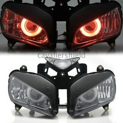 Fully Projector Hid Assembled Red Angel Eyes Headlamp For Honda Cbr1000rr 04-07
