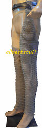Chainmail Leggings Medieval Knight Armor SCA Battle Ready Chain Maille Chausses