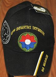 New Black 9th Ninth Infantry Division US Army Hat Ball Cap Old Reliables
