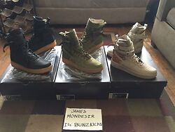 Nike Sfb Special Field Boots Special Forces Air Force 1 Faded Olive Camoblack