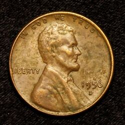 1956 D Better Grade Copper Lincoln Wheat Cent Penny Old Us Coin K89