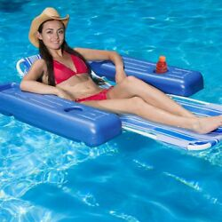 Poolmaster 53l X 39w Swimming Pool And Lake Caribbean Floating Lounge Chair