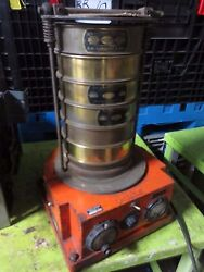 Syntron Tss-31 Test Sieve Shaker - W/ 5 Sieves - For Parts Or Not Working