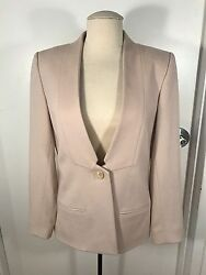Honor Beige Inverted Lapel Jacket New With Tags