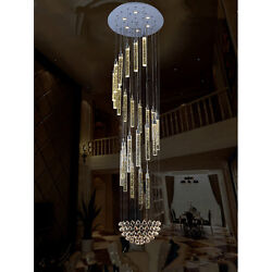 49 Crystal Raindrop Led Living Room Stair Bubble Crystal Ceiling Light Hall Lamp