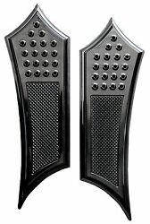 Accutronix Knurled Drilled Instigator Front Floorboards For Indian