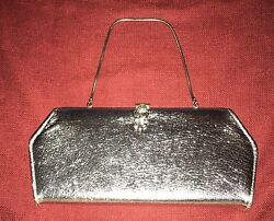 Vintage Silver Clutch Evening Cocktail Purse $16.99